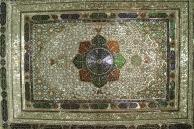 Glass work on the ceiling of Narenjestan Palace, Shiraz, Iran