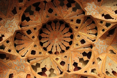 Ceiling of the Music Room at Ali Ghapu Palace, Isfahan