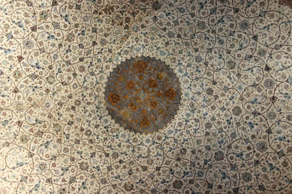 Hand Painted Ceiling of Ali_Ghapu, Isfahan Iran