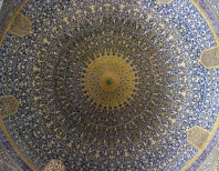 Hand painted mosaic on the Ceiling of_Shah'sMosque_Ishfahan_Iran (1)